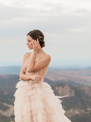 Ballet Bridal Style Meets Mount Olympus Like Venue in California
