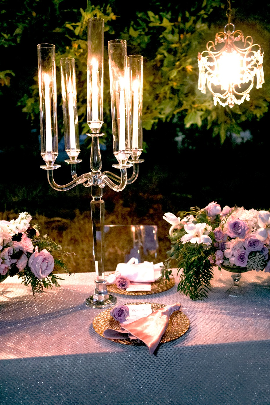 glowing wedding table