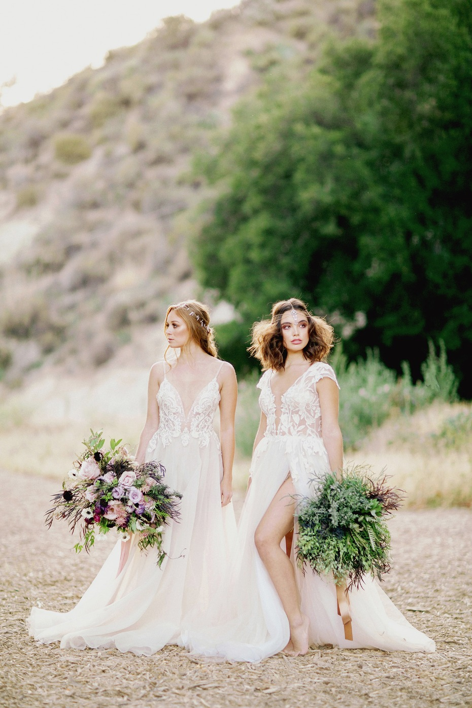 wedding dress options for your glam boho chic wedding