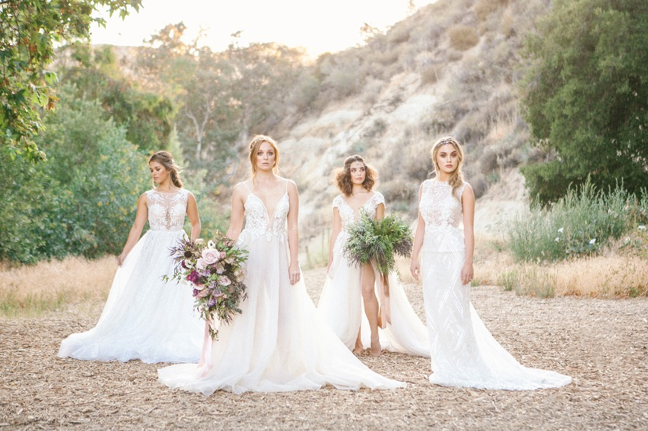 four brides all sporting Muse by Berta