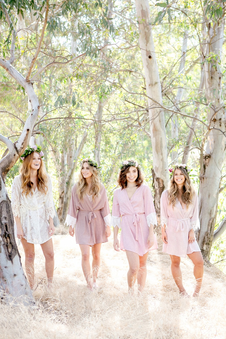 mix and match bridesmaid robes
