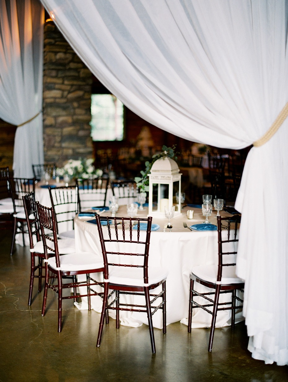 formal wedding dinner with a rustic vibe