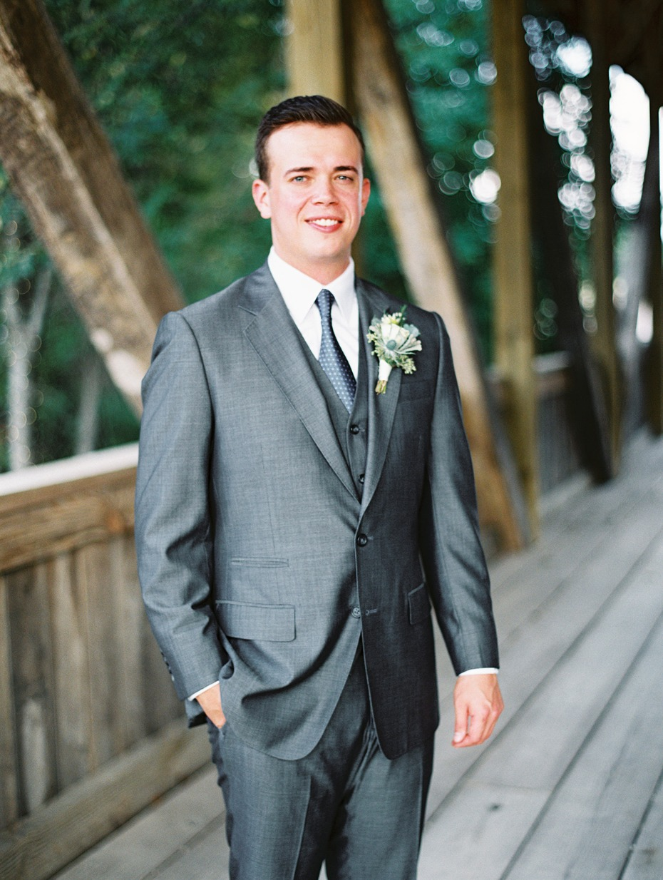 sharks skin silver grey groom suit