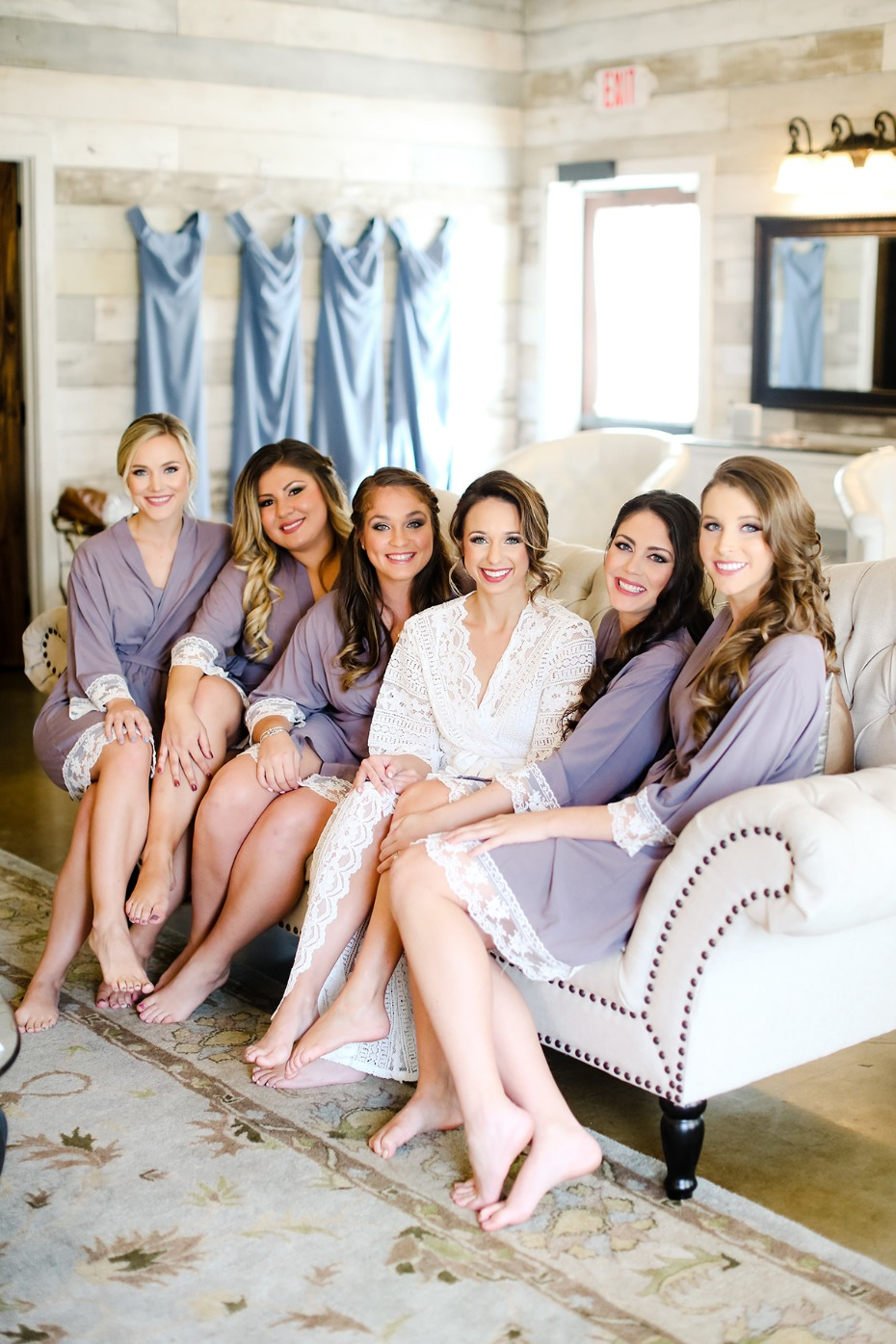 cute bridal party getting ready lounge