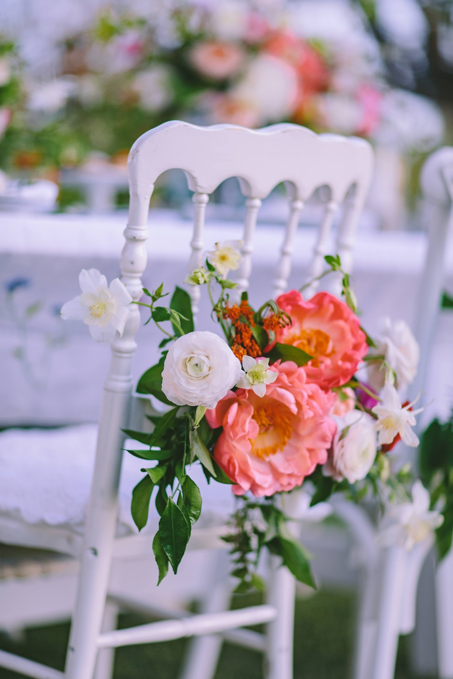Flower chair accents