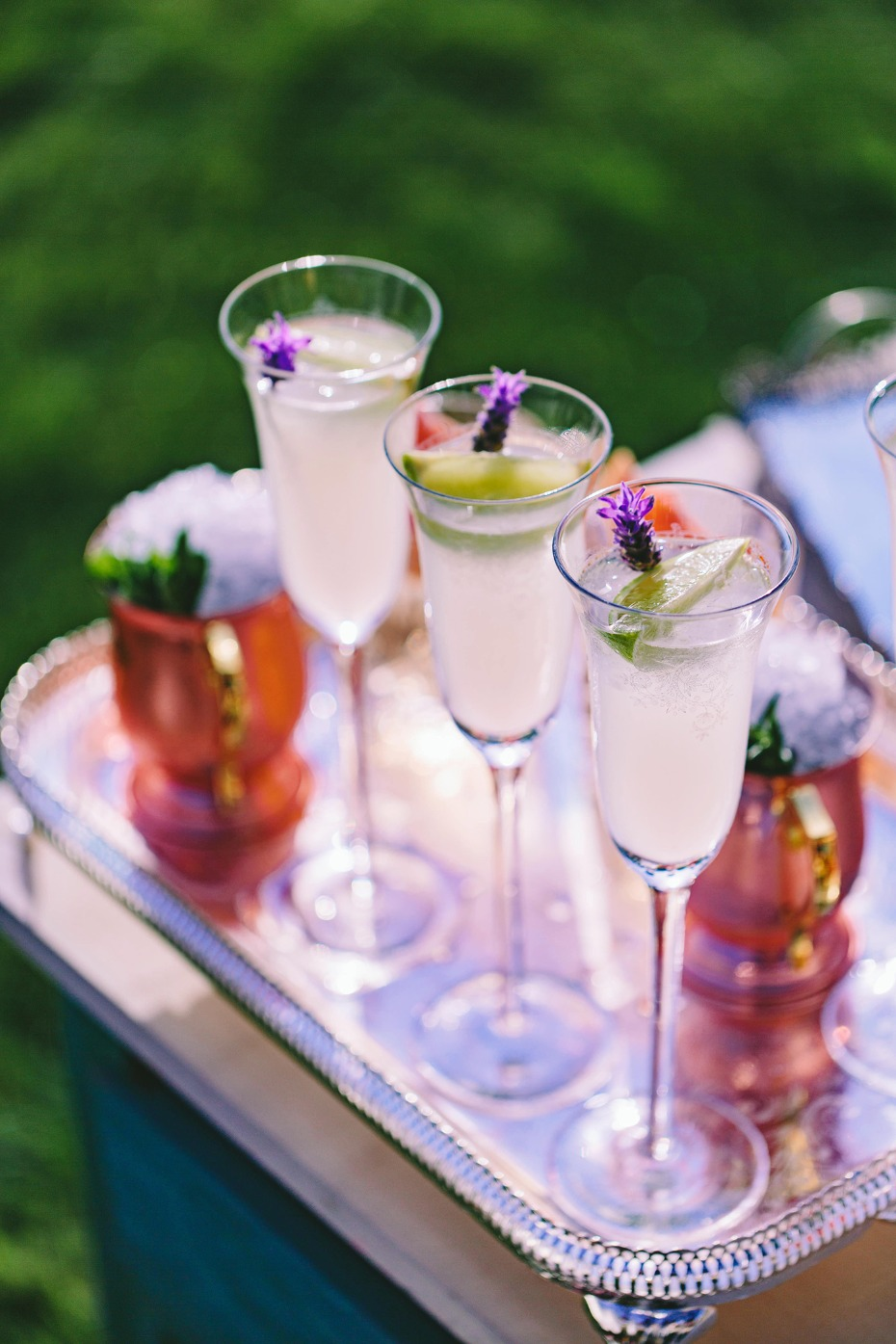 Garden wedding cocktails