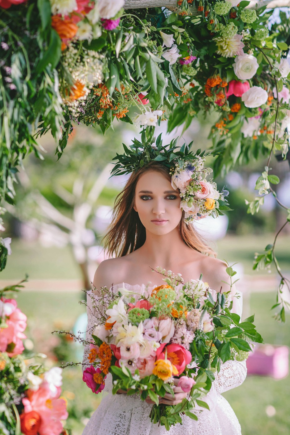 Flower-full boho bride