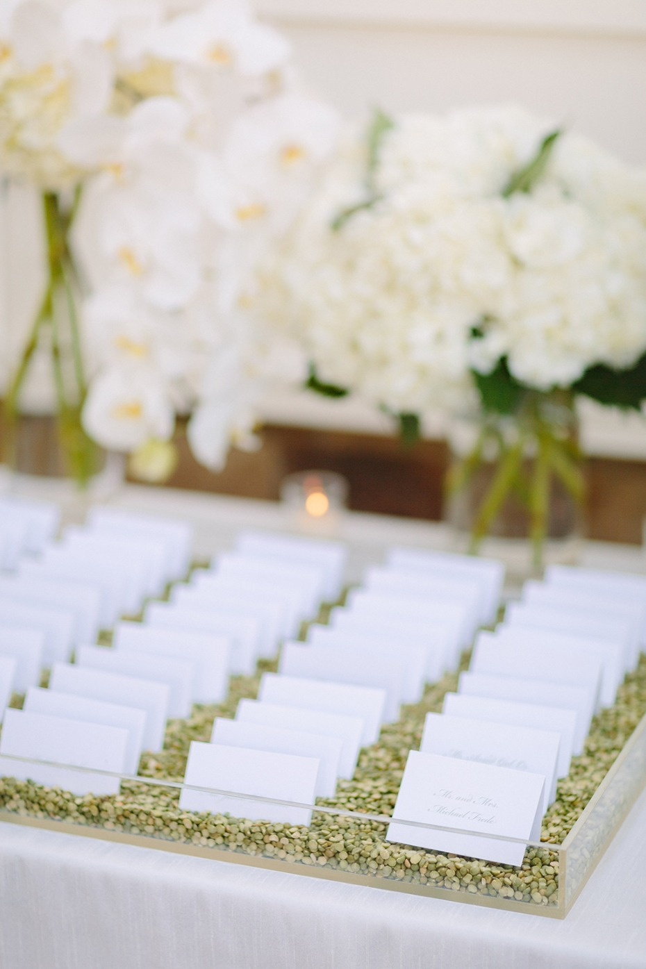 elegant wedding escort card display