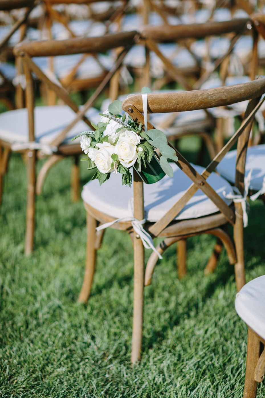 sweet floral wedding aisle decor