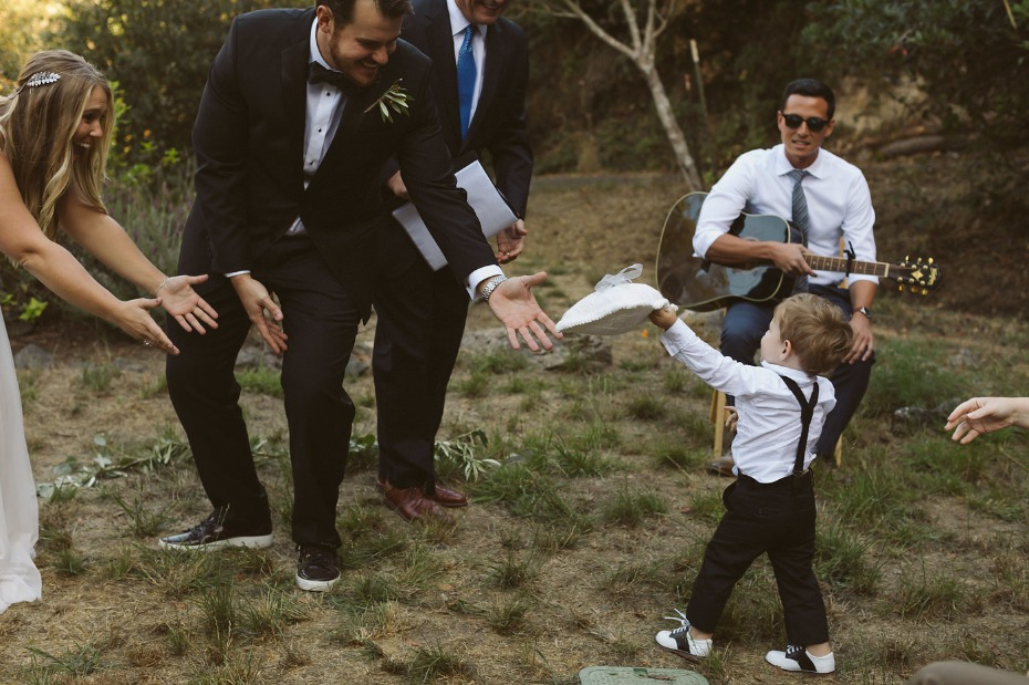 cute little ring bearer in saddle shoes