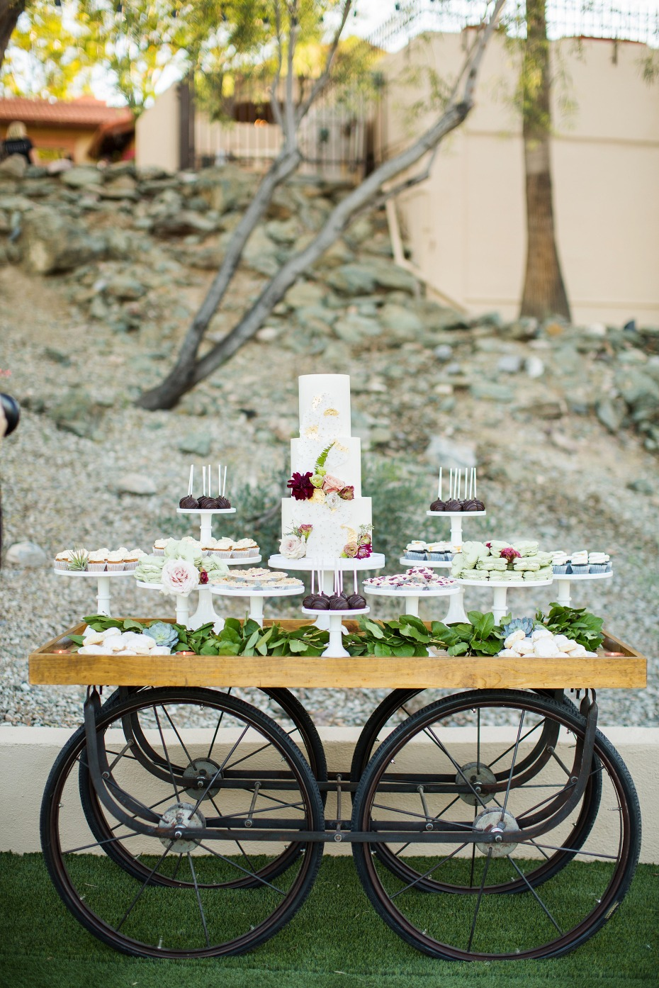 Gorgeous dessert cart