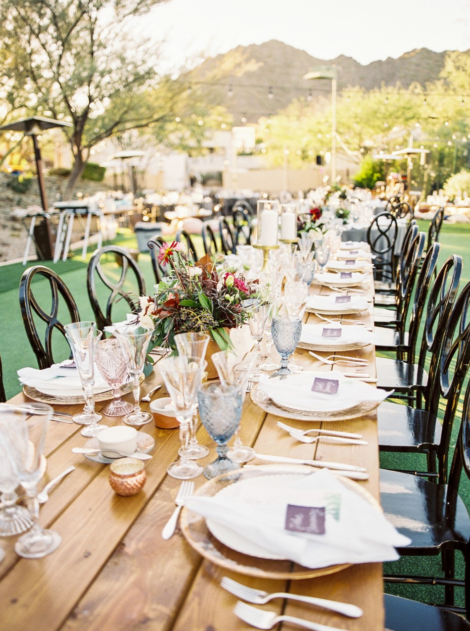 Natural modern tablescape