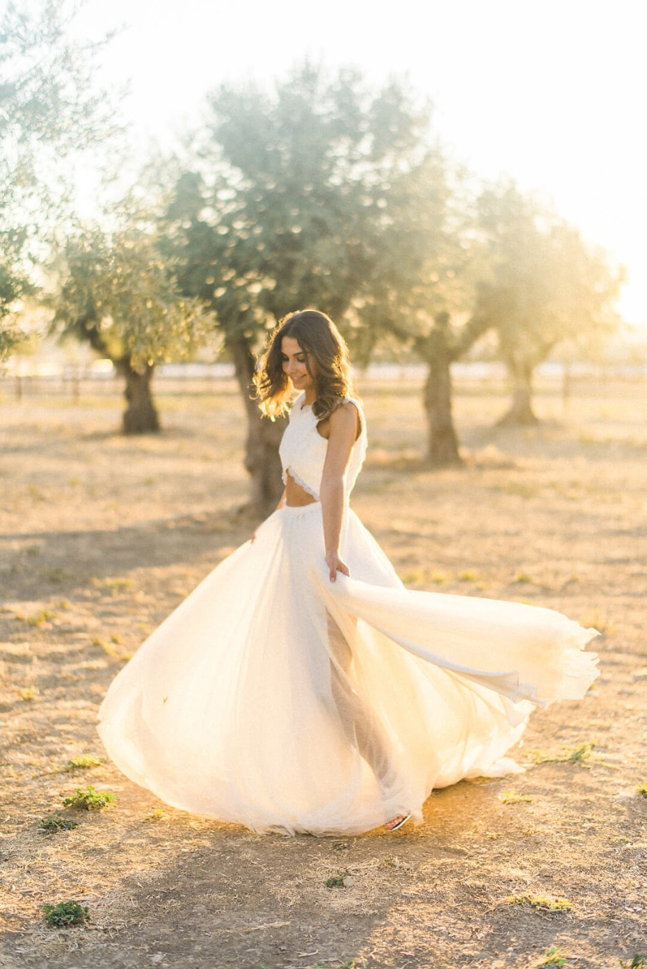 spinning and twirling wedding photo