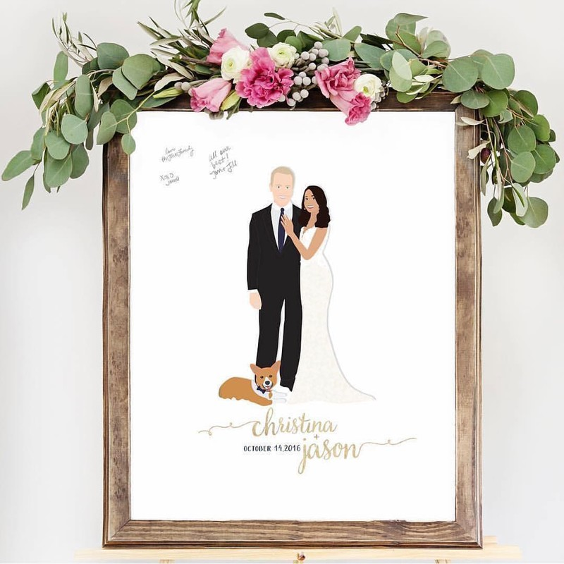 While there are a lot of ways to display your portrait guest book... with flowers on top 🌺is our personal favorite. Tag a bride