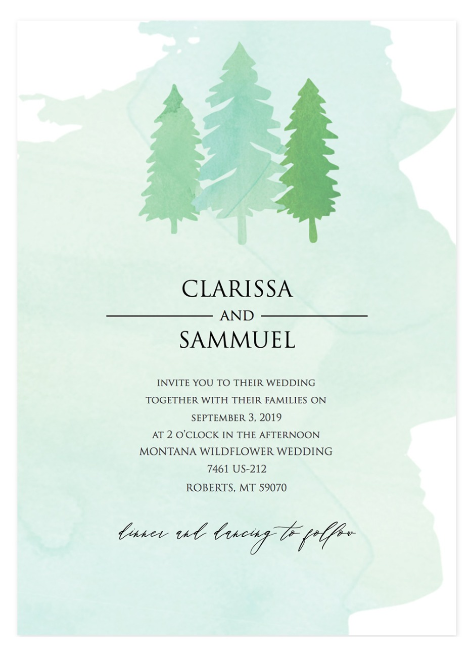 free tree wedding invite