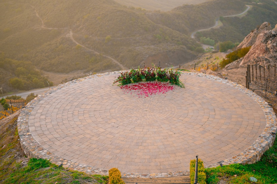 Ceremony location at Malibu Rocky Oaks