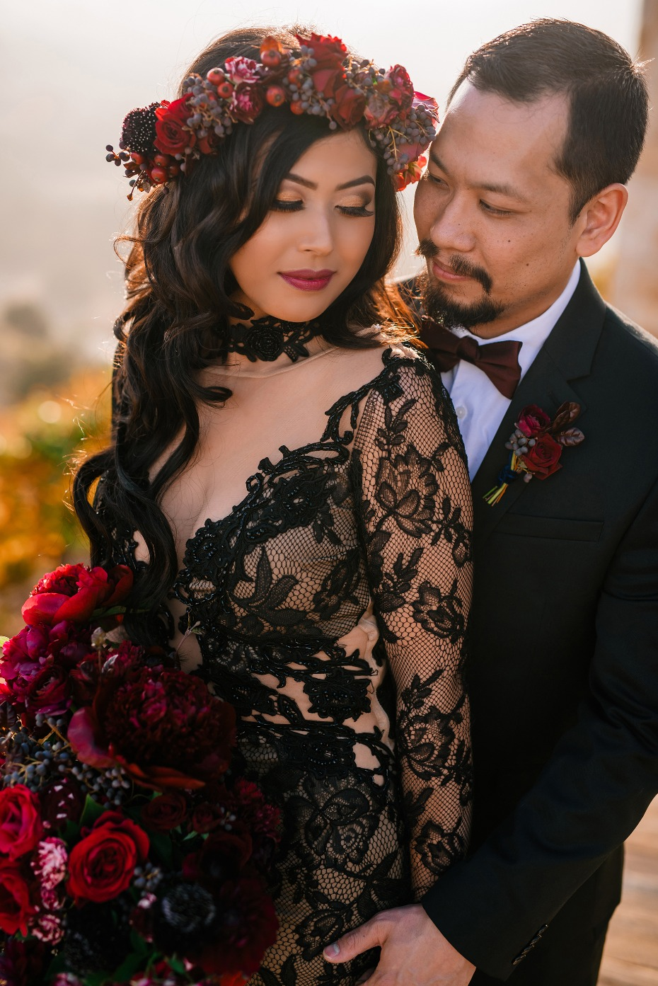 Gorgeous elopement in Malibu