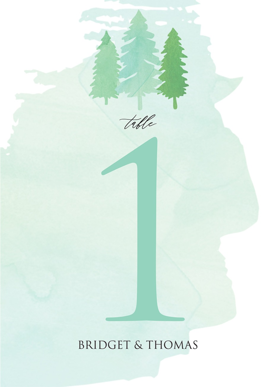 FREE printable tree table number