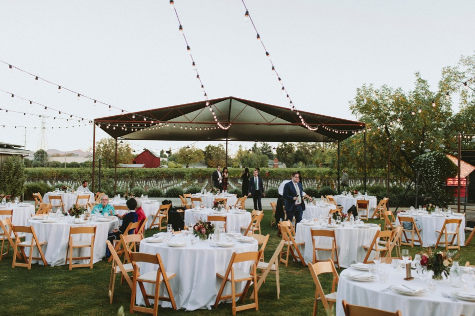 Wedding reception at Farmstead at Long Meadow Ranch