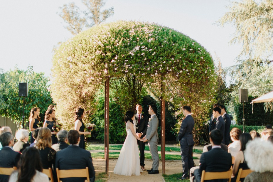 Ceremony at Farmstead at Long Meadow Ranch