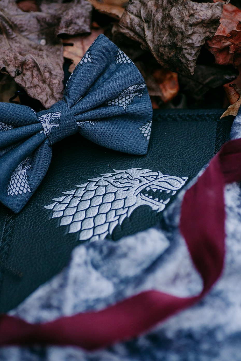 game of thrones house Stark wedding accessories
