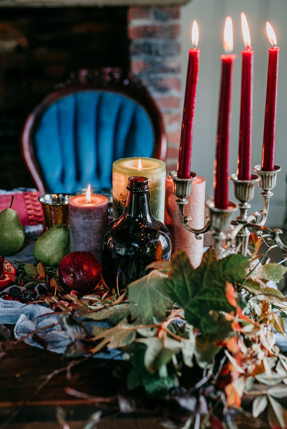 Late fall inspired wedding table decor