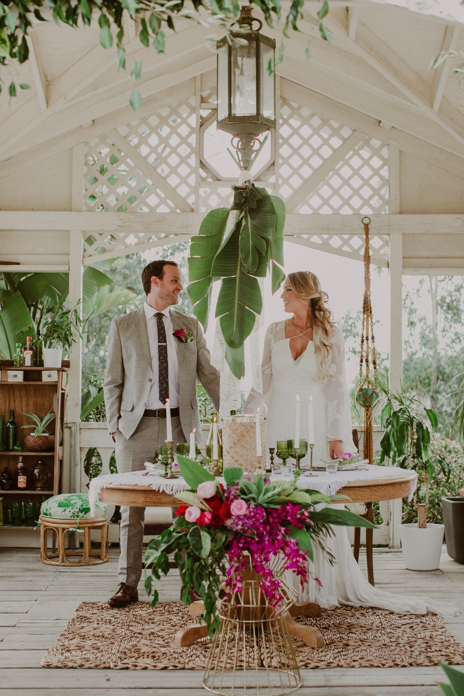 Tropical Valentines day wedding inspiration