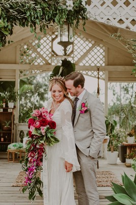 Fall in Love with this Tropical Valentine's Day Wedding Inspiration
