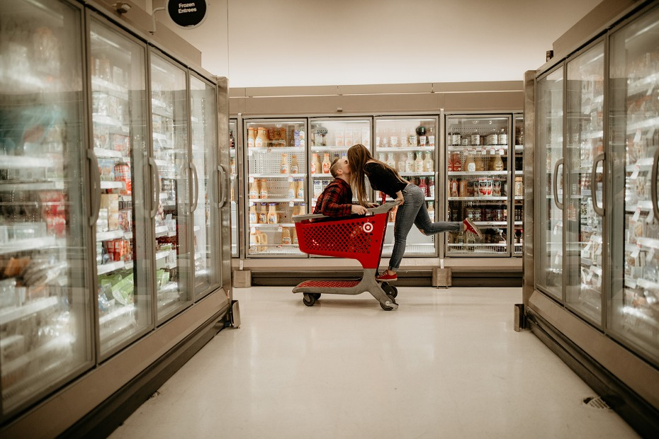 Engagement shoot in Target