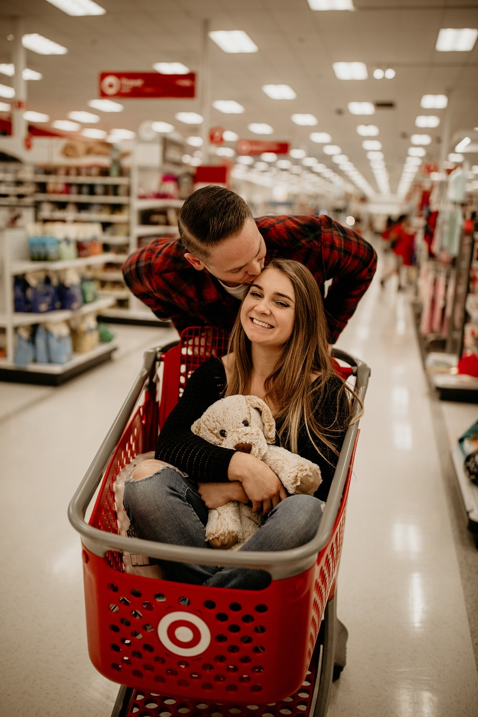 An unconventional engagement shoot in Target