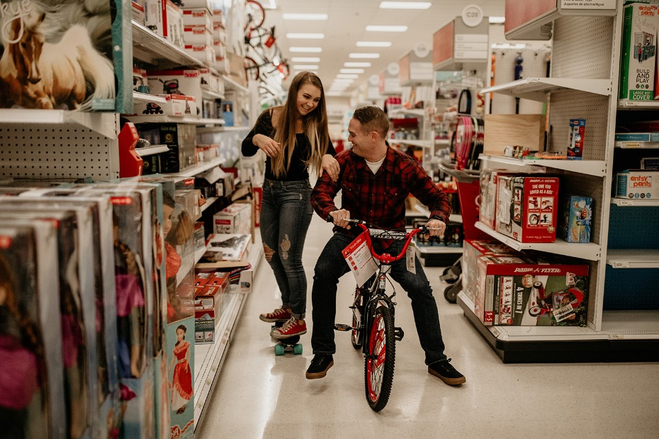 Late night engagement shoot in Target