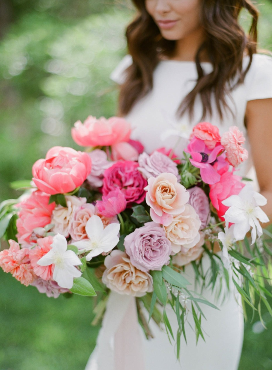 soft and romantic garden wedding bouquet