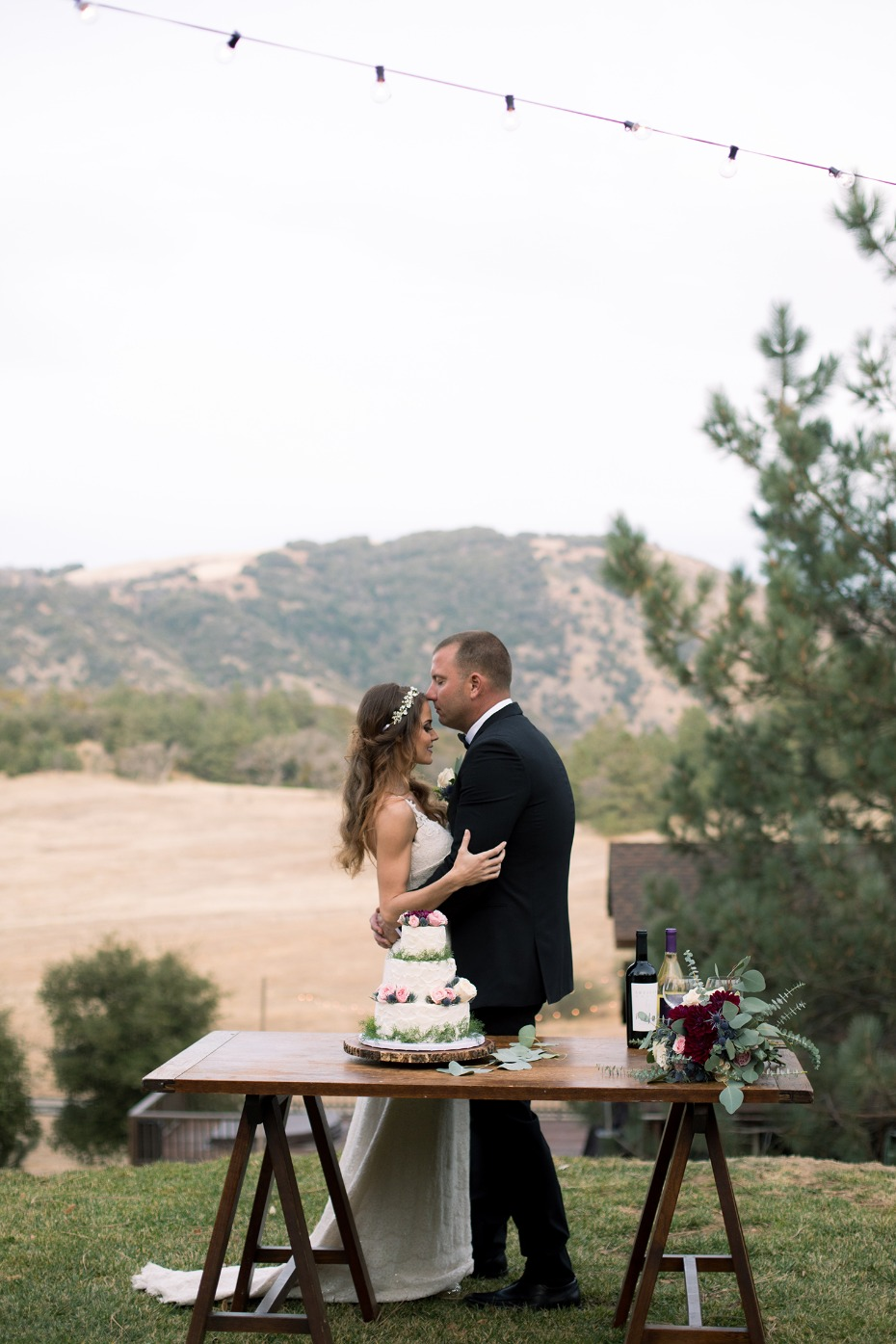 romantic cake table photo
