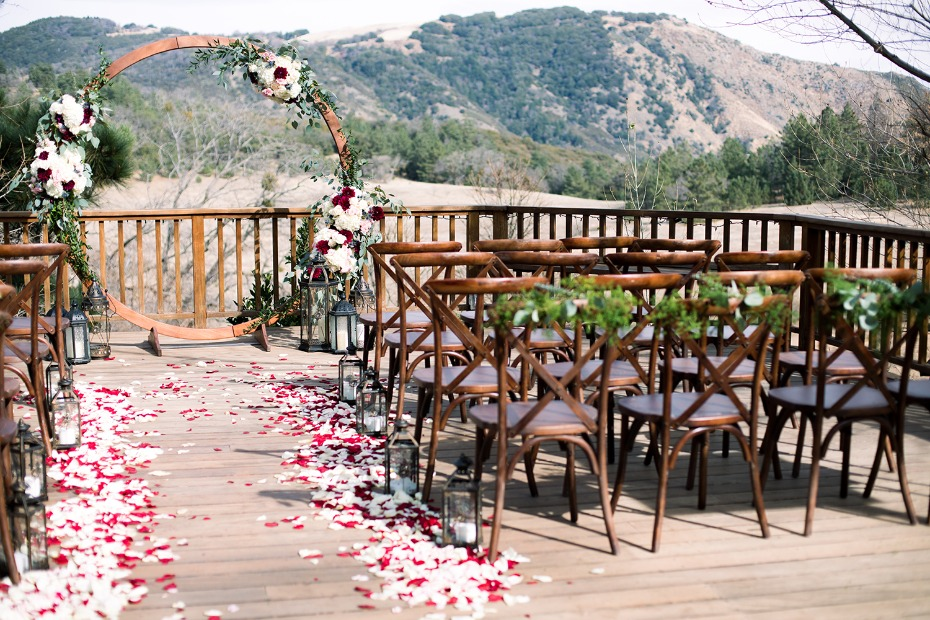 outdoor wedding ceremony for your cooler month weddings