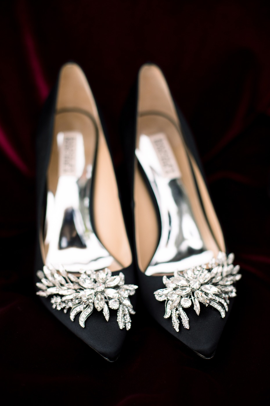 black crystal wedding shoes
