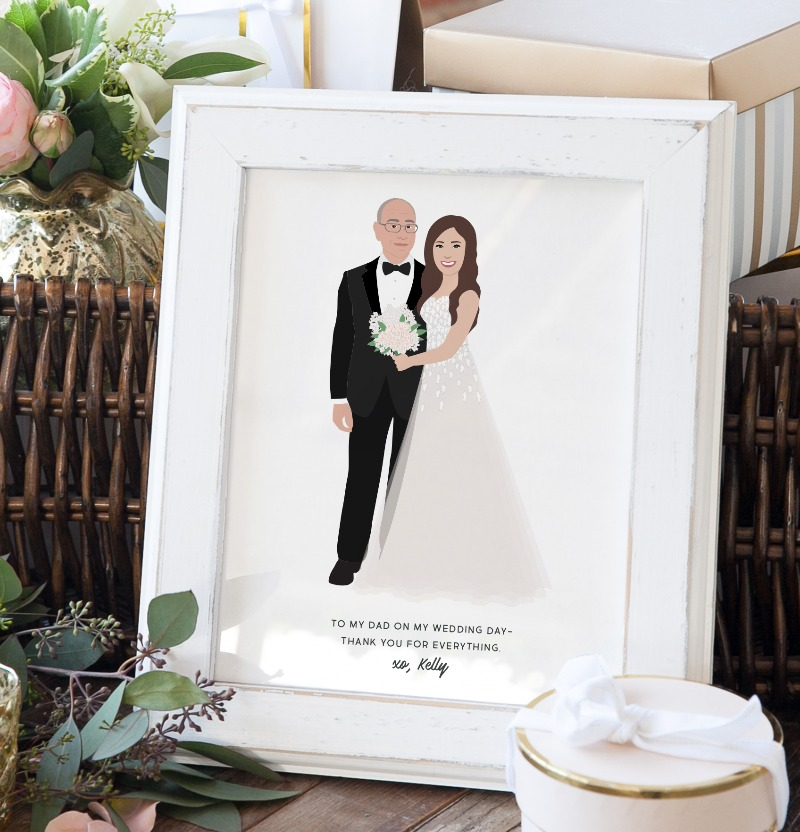 The most unique and heartfelt gift that a Father of the Bride could hope to receive on his daughter's wedding day. This amazing gift