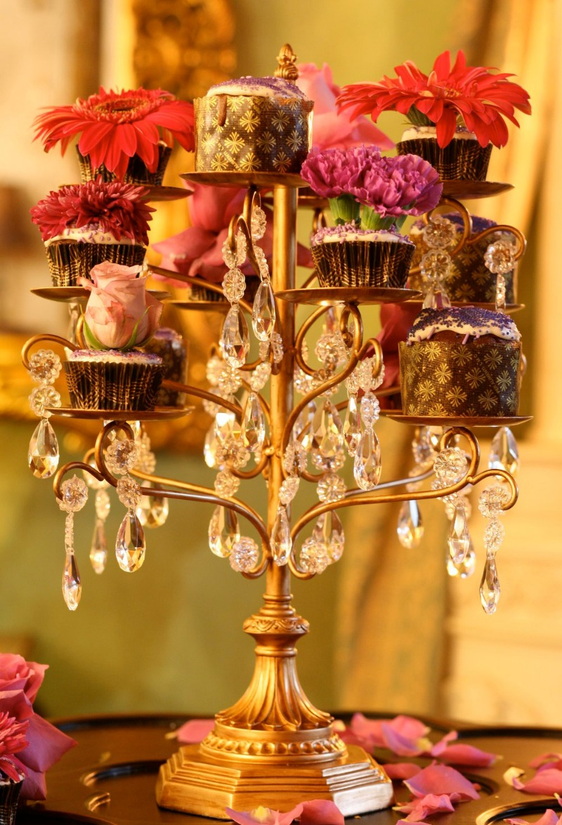 Gorgeous. Glamorous. Gold. Chandelier Dessert Stands created by Opulent Treasures for your wedding day!