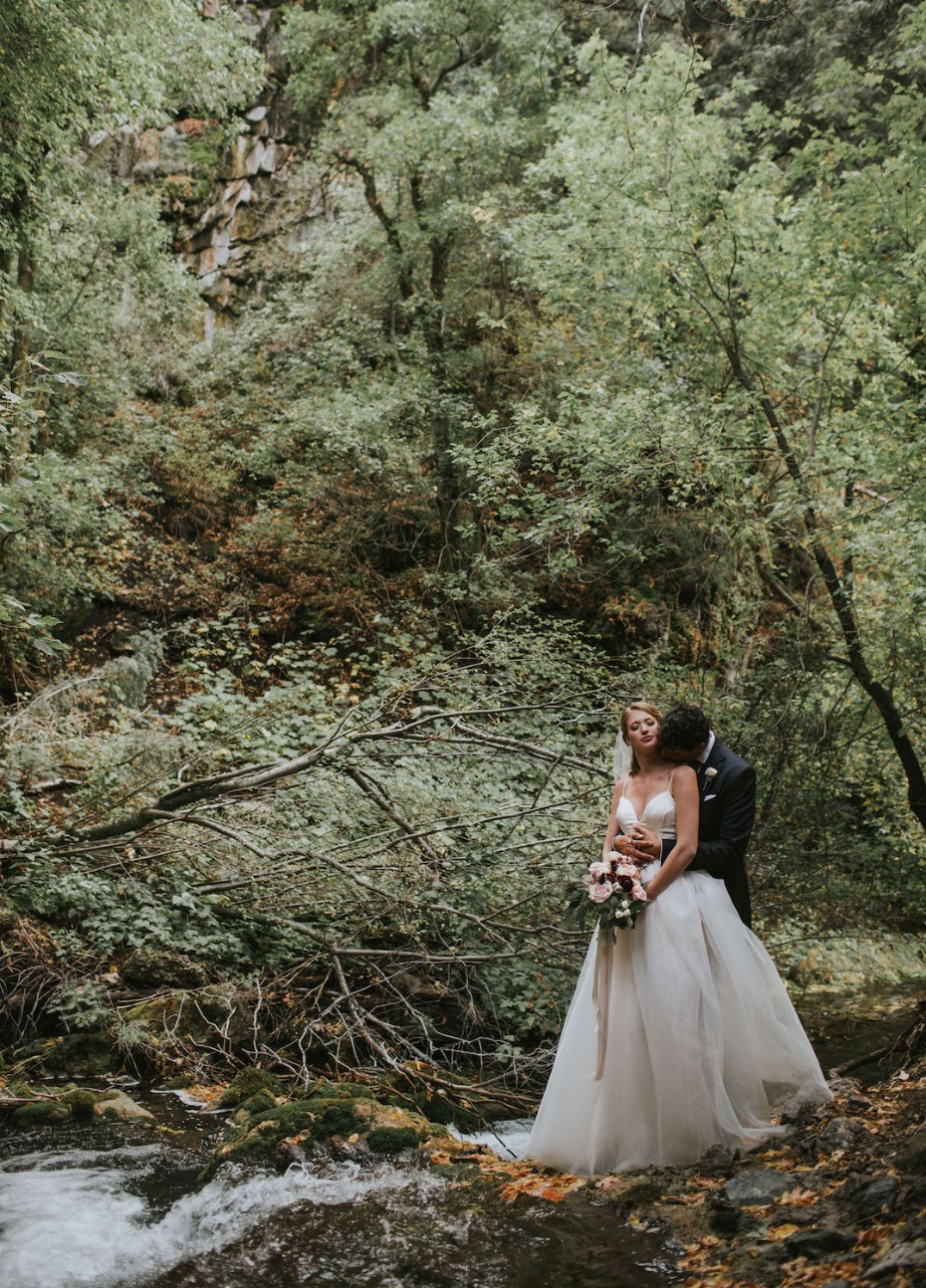 wedding photos in the woods