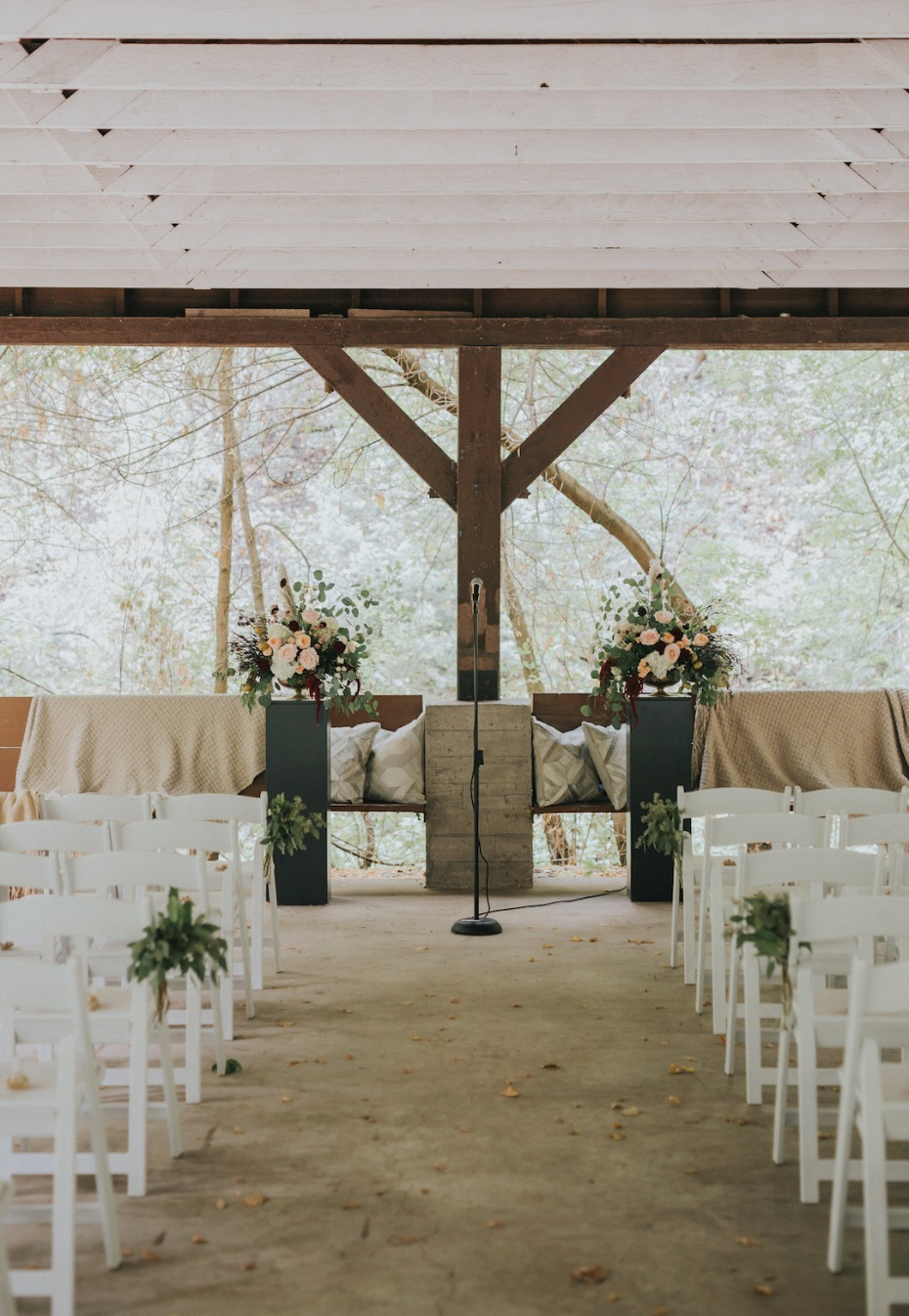 rustic and simple wedding ceremony