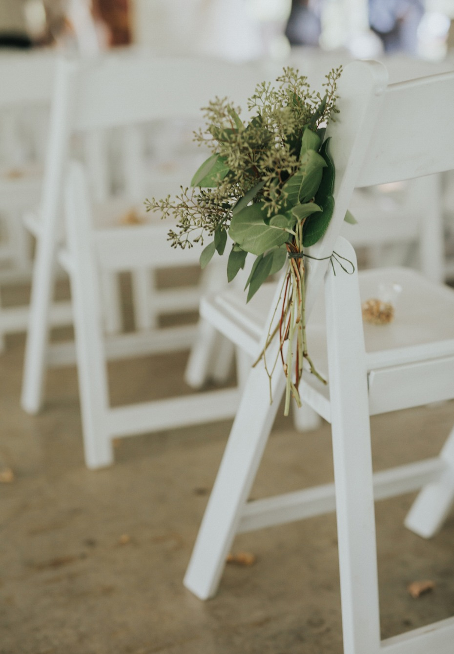 simple and sweet wedding aisle decor