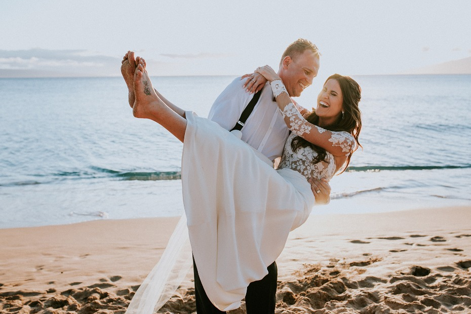 Stylish wedding in Maui