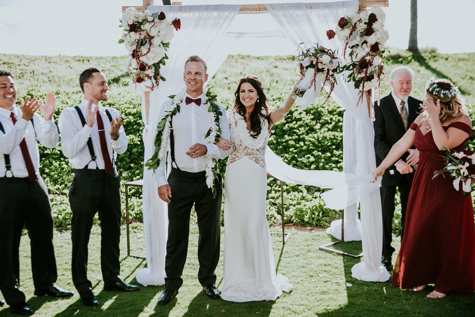 Beautiful outdoor wedding in Maui
