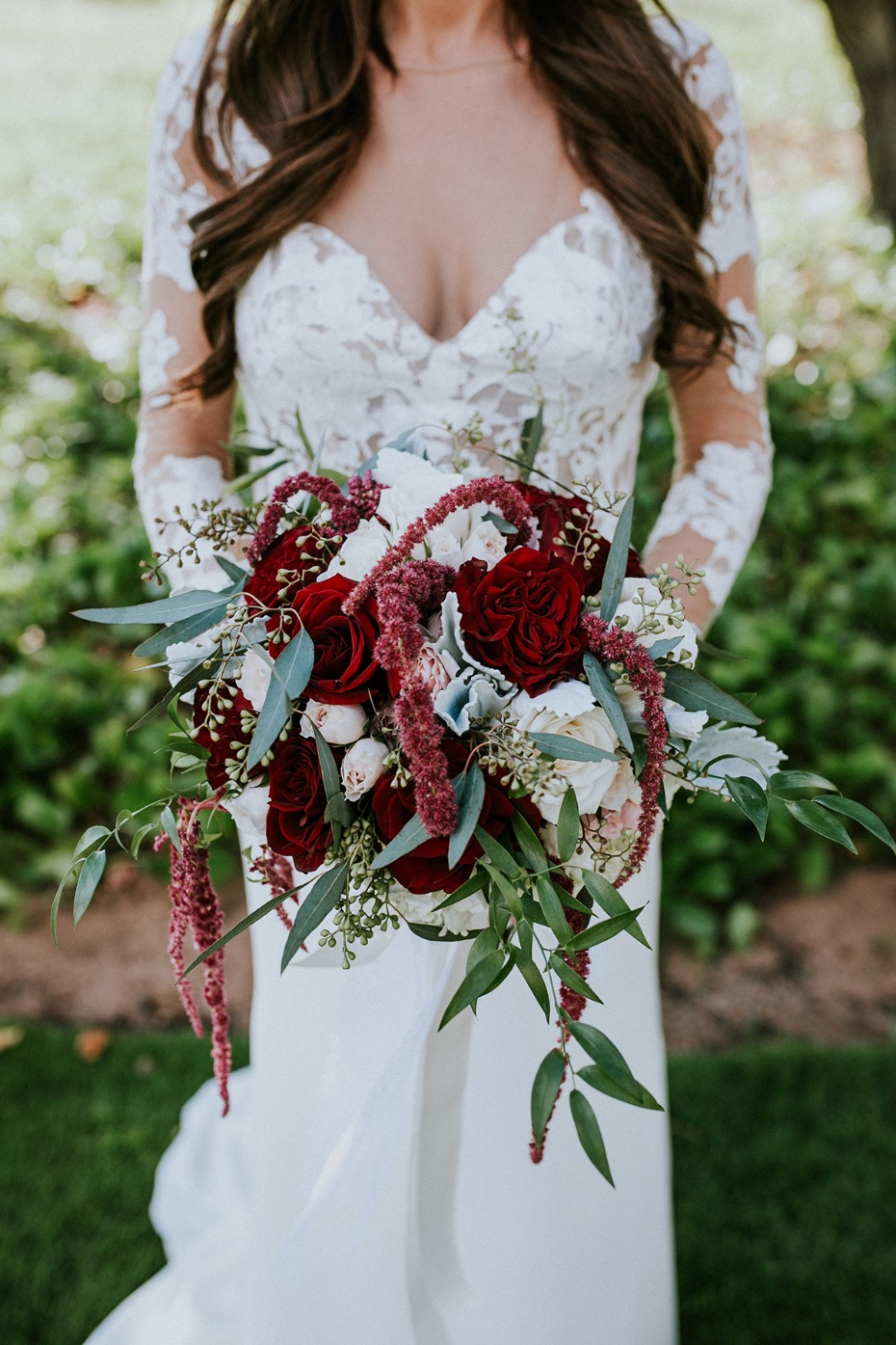 Pops of red bouquet