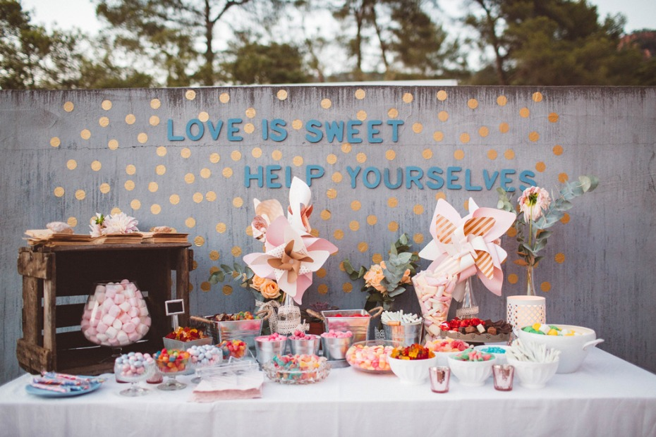 Sweets table for guests