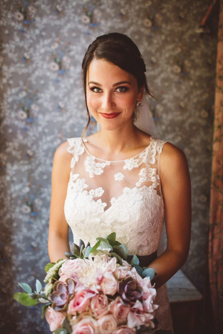 Pretty bridal look