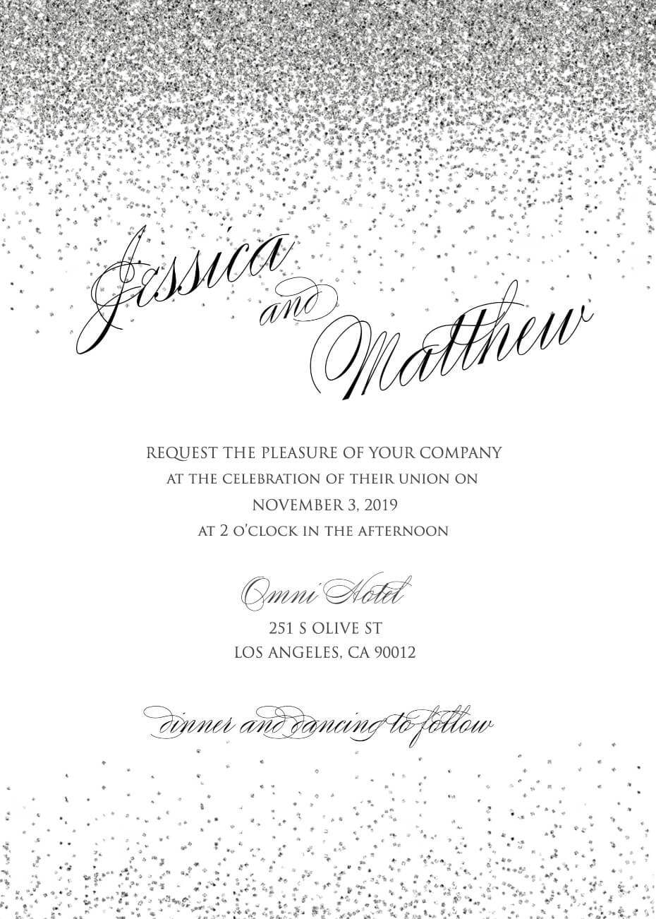 Wedding Invitation Generator Glam Wedding Invites