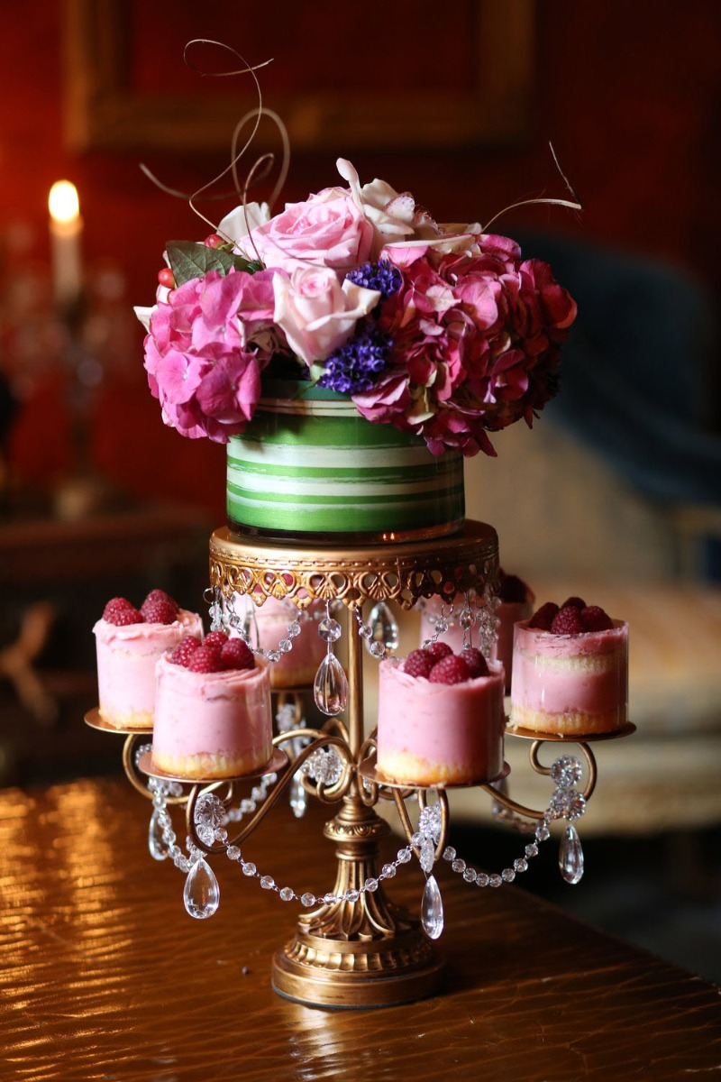 Create Elegant Dessert and Floral Wedding Centerpieces with Entertaining Pieces created by Opulent Treasures