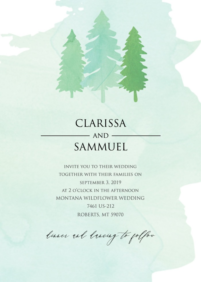 Print: Free Tree Wedding Suite