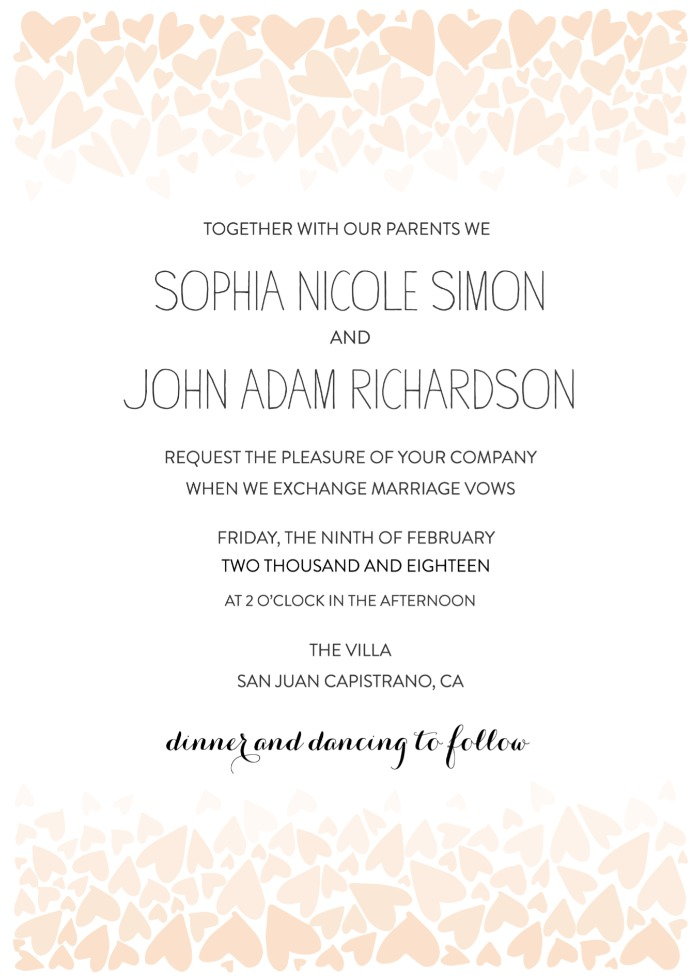 Print: Ombre Love Free Printable Wedding Invitation Suite