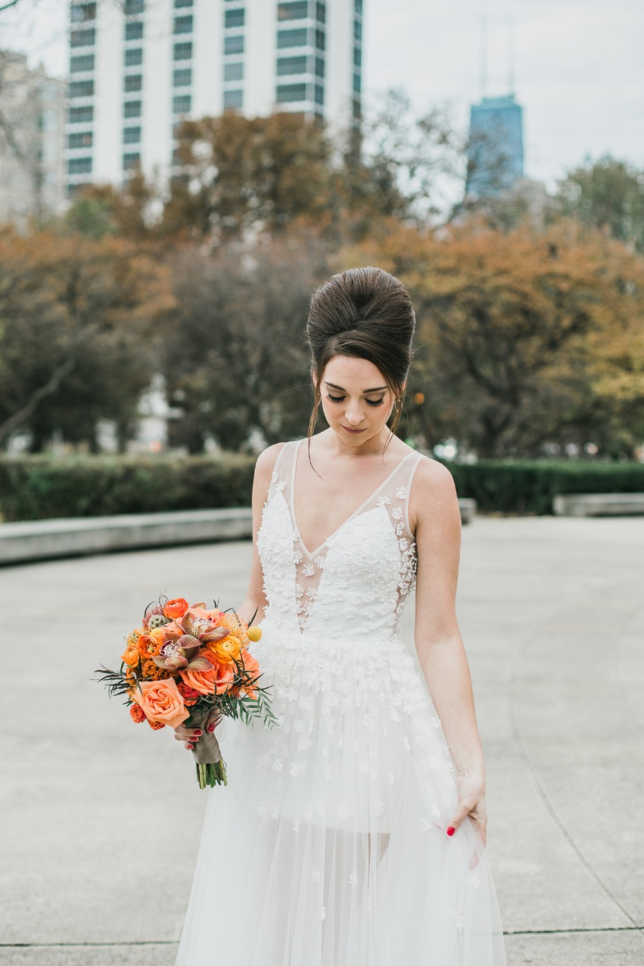 Beautiful and unique wedding dress